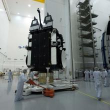 AEHF-2 Satellite Being Moved for Encapsulation