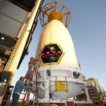 The Payload Fairing Arrives at the Cape Canaveral Air Force Station, Space Launch Complex 41 (SLC-41)
