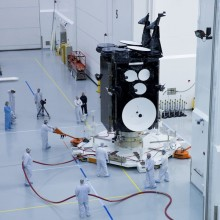 The Air Force's AEHF-3 Satellite at Astrotech's Florida Facility