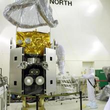 ICESat Undergoing Final Processing at Astrotech's Vandenberg Air Force Base Facility