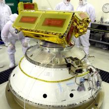 CHIPSat Undergoing Final Processing Prior to Launch on a Delta II Rocket