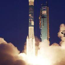 Liftoff of a Delta II Rocket Caryying ICESat and CHIPSat