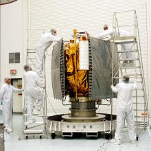 The Spacecraft is Prepped for the Fueling Operation