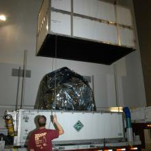 Deep Impact Arriving at Astrotech's Florida Facility