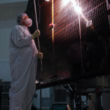 Inspecting the Solar Array Panels