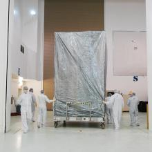 Deep Impact Covered for Transport to the Hazardous Processing Facility