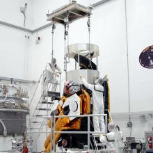 Spacecraft Being Prepped for Lift