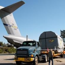 The Satellite Being Transported to Astrotech's Florida Facility