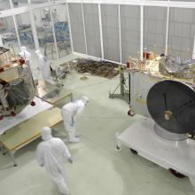 Beginning Inspections in One of Astrotech's Cleanrooms
