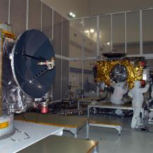 STEREO Spacecraft Undergoing Instrument Integration and Testing