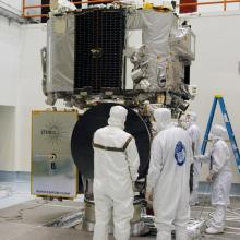 Technicians Making Final Inspections of the Spacecraft