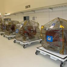 All of the THEMIS Spacecraft Inside Astrotech's Facility