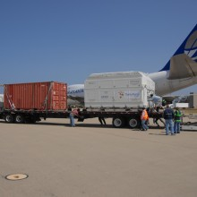 Preparing to Transport the Spacecraft to Astrotech's Vandenberg Facility