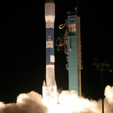 Liftoff of a United Launch Alliance Delta II Rocket, Carrying OSTM