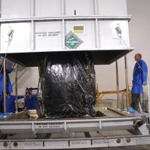 Removing the Spacecraft from the Transporter