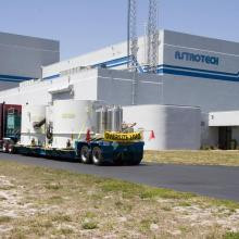NASA's STEREO Spacecraft Arriving at Astrotech's Florida Facility