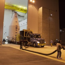NASA's TDRS-L Satellite Leaving Astrotech's Florida Facility for the Launch Pad