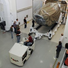 Removing the Spacecraft from its Shipping Container
