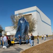 Kepler Being Moved to the Hazardous Processing Facility at Astrotech