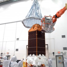 The Final Cover Being Removed From the Spacecraft