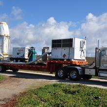 OCO Leaving Astrotech for the Launch Pad