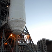 After Leaving Astrotech's Florida Facility, Kepler Arrives at the Launch Pad
