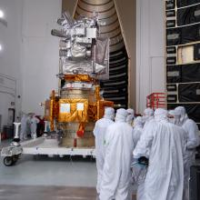 The Two Spacecraft Being Prepared for Encapsulation