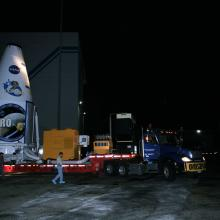 LRO/LCROSS Begin Transport to the Launch Pad