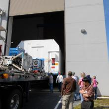 STSS Demo Arriving at Astrotech's Florida Facility