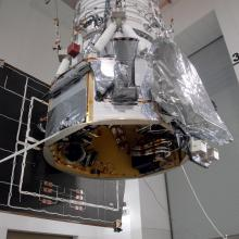 The Spacecraft Being Moved to the Flight Conical Adapter and Test Stand