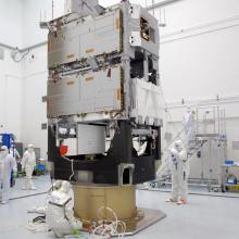 Technicians Working on the Spacecraft