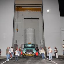 Leaving Astrotech's Facility