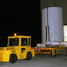 WISE Leaving Astrotech's Vandenberg Facility