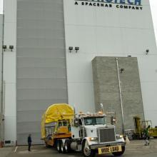 SDO Arriving at Astrotech's Florida Facility