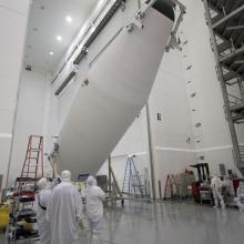 The Second Fairing Half Being Moved