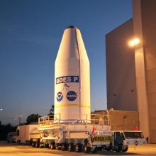 NASA's GOES-P Leaves for Cape Canaveral Air Force Station