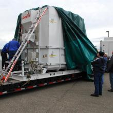 GLORY Arrives at Astrotech's VAFB Facility