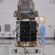 Technicians Inspect the Spacecraft