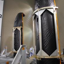 Taurus XL Fairings Inside Astrotech's Facility
