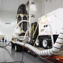NASA's GLORY Spacecraft Ready to Leave Astrotech's Facility