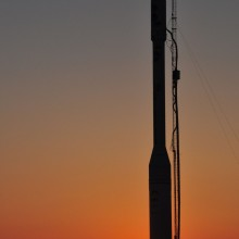 The Orbital Sciences Taurus XL Rocket at the Launch Pad