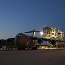 JUNO Arrives at the Shuttle Landing Facility (SLF)