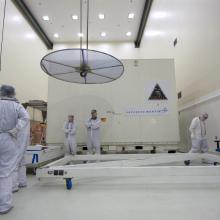 Arriving at Astrotech's Florida Payload Processing Facility