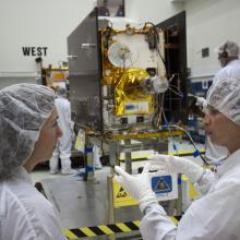 Inspecting the Spacecraft in the Clean Room