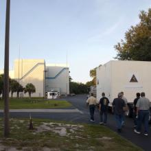 Moving the Spacecraft from the Payload Processing Facility to the Hazardous Processing Facility