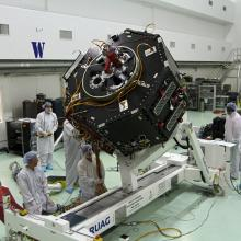 Conducting Tests on One of the RBSP Spacecraft
