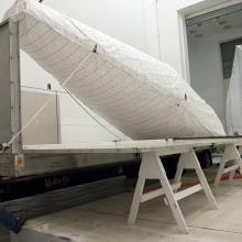 United Launch Alliance Atlas V-Meter Fairings Arrive at Astrotech