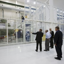 NASA Administrator Charles Bolden Tours the O& C with Astrotech's MFS (Credit: NASA)