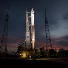 Atlas V Rocket Carrying the RBSP Spacecraft Ready for Launch