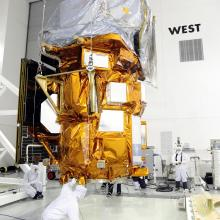Technicians Processing the Spacecraft